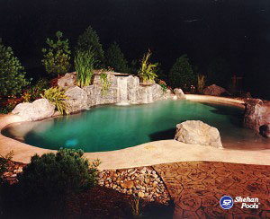 Custom Pools Lagoon Pool Style for A Tropical Feel Shehan Pools