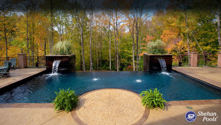 Swimming pool design for infinity pools shehan pools for Infinity pool design uk